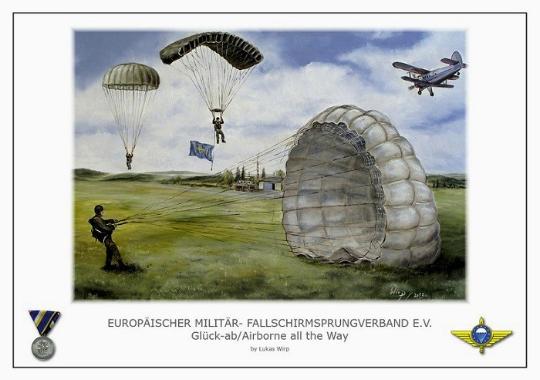 Fallschirmspringer Fallschirmjäger Europa Militär Polizei  Poster