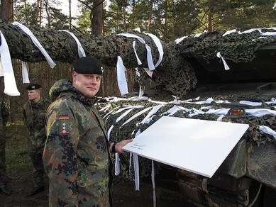 Panzer Gemälde Bilder fotos Poster Leinwand Bundeswehr Heer