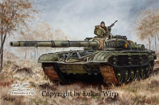 DDR Volksarmee Panzer T-72 Poster Leinwand Bild Foto Lukas Wirp