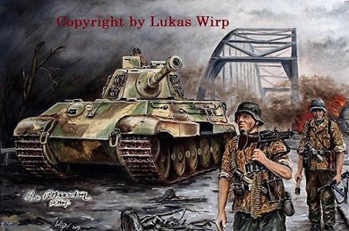 Panzer Tiger II deutsche Waffen SS