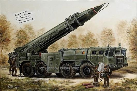 DDR Nationale Volksarmee Raketenbrigade Panzer Poster Foto Lukas Wirp