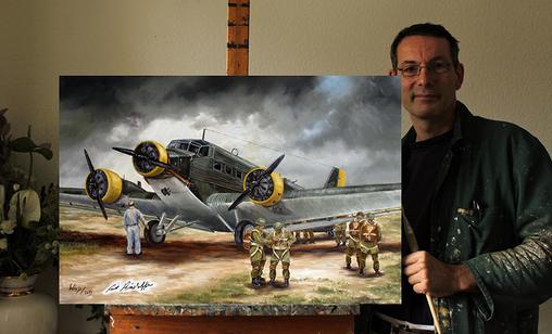 Militär Bilder Leinwand Poster foto Fallschirmjäger Wehrmacht Ju52