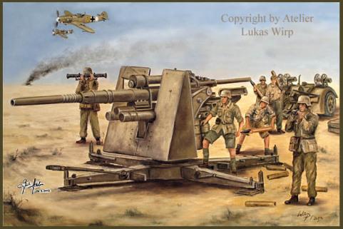 Kampf Afrika Korps Flak Lufteaffe BF 109 Panzer