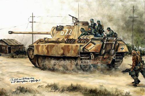 Wehrmacht, Panzer, Waffen SS, Landser, Panzer, Panther V, Kursk