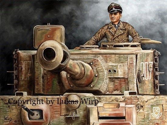 Waffen SS Poster Bilder Gemälde Panzer Ritterkreuz