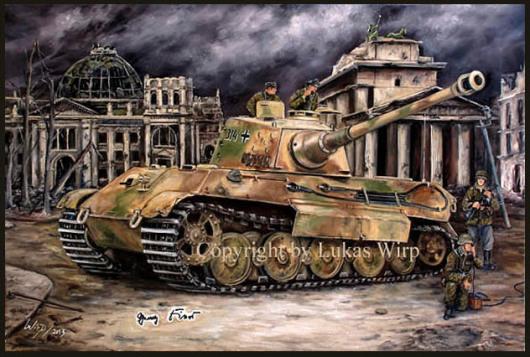 Deutscher Panzer Tiger II Königstiger in Berlin King Tiger Fotos Album Landser