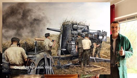 Öl , Gemälde , Wehrmacht , Poster , Kunstmaler , Lukas Wirp , Militär , Bilder