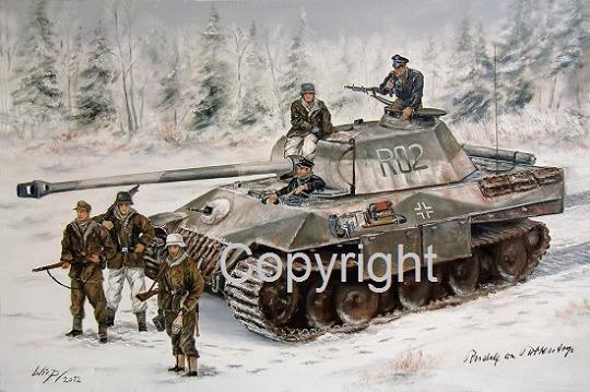 Waffen SS , Leibstandarte , Lukas Wirp , Westfront , Panther , Ardennen , Bilder