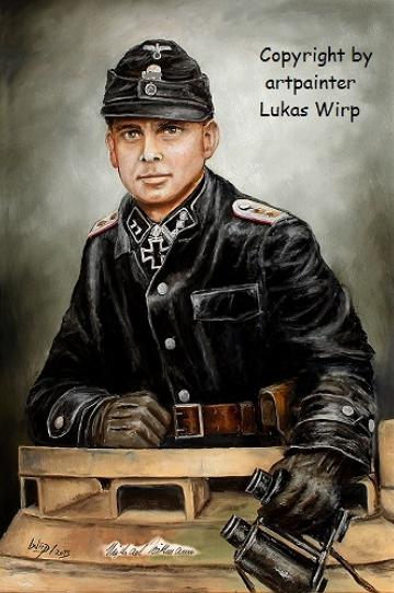 Waffen SS Leibstandarte Michael Wittmann Foto Portrait Panzer