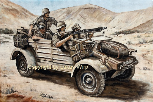 Wehrmacht Kuebelwagen Afrika Korps