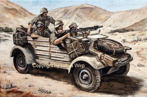 Kasserinpass, Gefecht, Afrika Korps, Kübelwagen