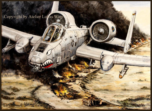 US Army picture A-10, art, painting