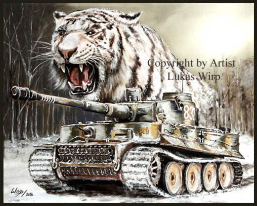Waffen SS, Panzer, Tiger, SdKfz, Militär, Kriegsmaler, Lukas Wirp