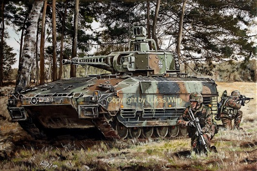 Panzer, Bundeswehr, Panzergrenadiere, Militärmaler, Kriegsmaler, Lukas Wirp