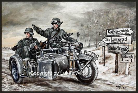 Motorrad Wehrmacht 2. Weltkrieg Krad Bilder