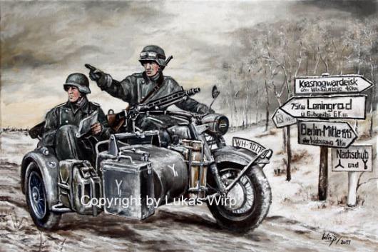 2. Weltkrieg, Wehrmacht, Krad Gespann BMW , Bilder