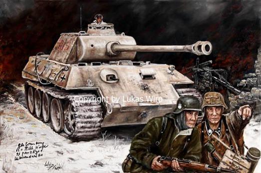 Panzer Waffen SS, Ostfront, Panther V, Grenadiere, Bilder