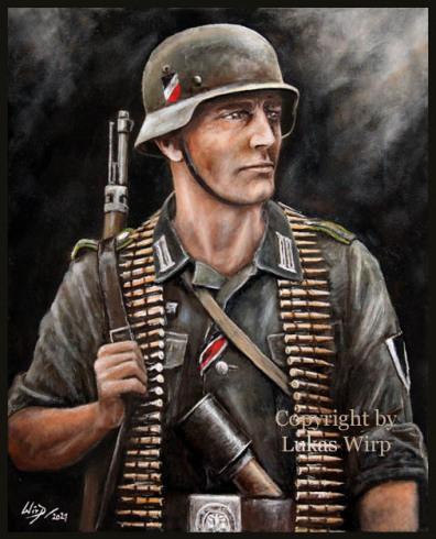Soldat, 2. Weltkrieg Portrait, Wehrmacht, Bilder