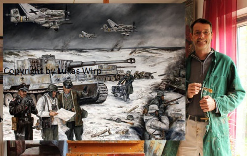 Maler, Bilder, Poster, Militär, Panzer, 2. Weltkrieg , Lukas Wirp