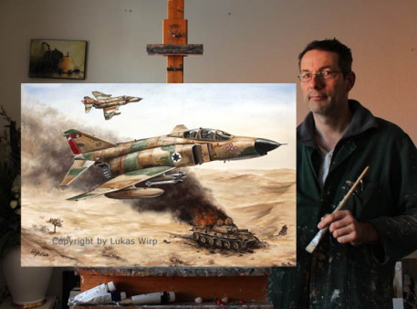 air force painting artpainter Lukas Wirp