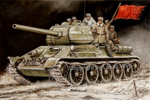 Russian, tank, picture, World War 2, Lukas Wirp