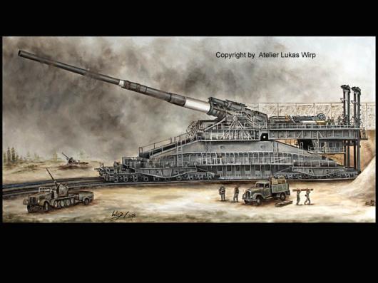 Artellerie Geschuetz der Wehrmacht Gustav
