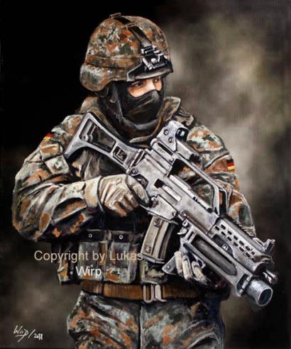 Panzergrenadier, Heer, Bilder, Gefecht, Poster, Lukas Wirp
