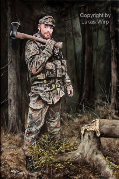 Soldat, Jäger, Übung, Gefecht, Bilder, Portrait