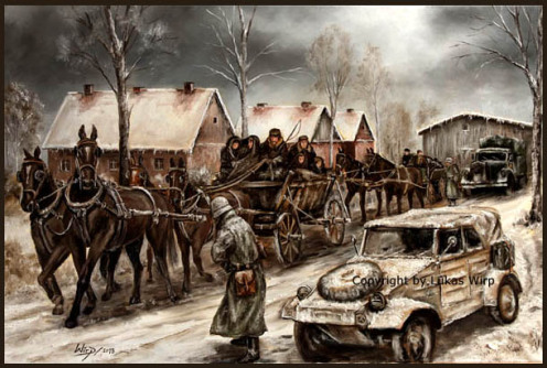 Kübelwagen, Waffen SS, Ostfront , Landser