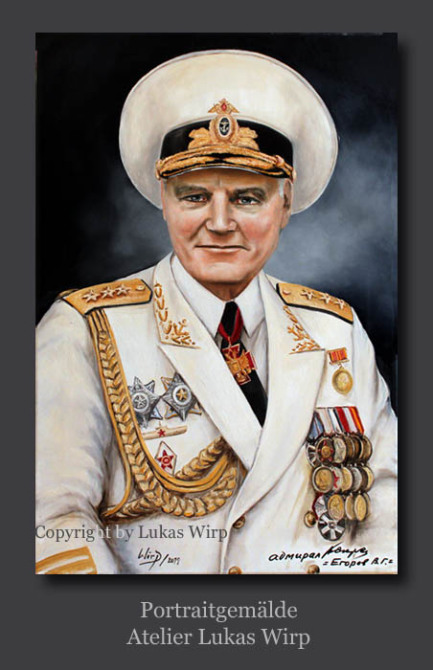 soviet, navy, russian, portrait, painting