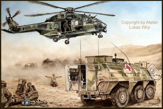 Bundeswehr, Sanitätsdienst, Transporthubschrauber