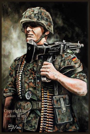 MG Schuetze, Stahlhelm, M60, Bild