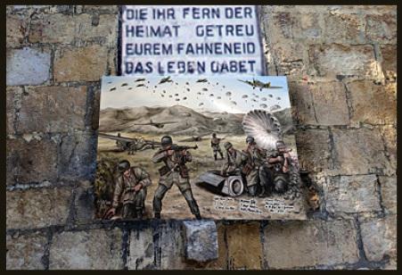 Fallschirmjäger, Kreta, Denkmal, Gefallene, Soldaten