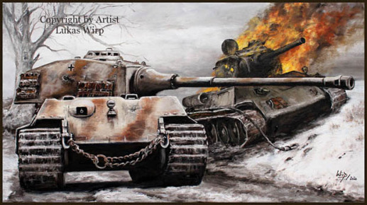 Waffen-SS, Panzer- King tiger, Gefecht, vs, T-34g