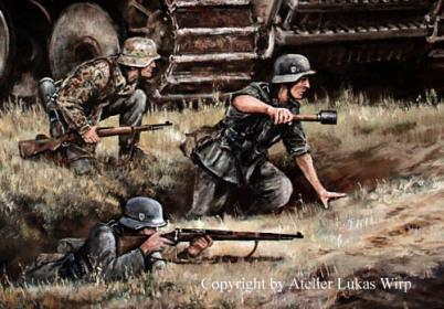 Waffen-SS, Panzergrenadiere, soldaten, Gefecht, Kampf