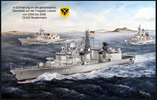 Abschiedsgeschenk, Bundeswehr, Soldaten, Marine, Fregatte, Lübeck