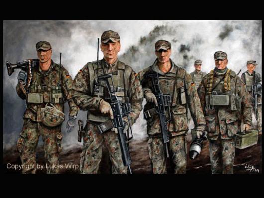 Soldaten der Bundeswehr, Panzergrenadiere und Jäger