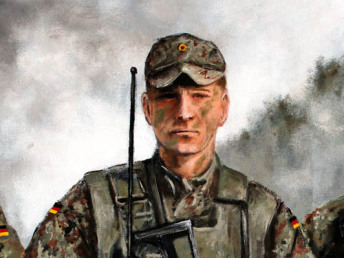 Bundeswehr Offizier der Jäger Truppe