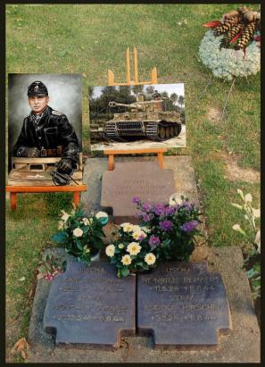 Das Grab von Michael Wittmann in La Campe