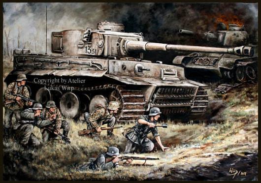 Unternehmen Zitadelle, Tiger Panzer der Leibstandarte