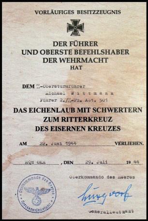 Ritterkreuz Michael Wittmann, Leibstandarte Adolf Hitler