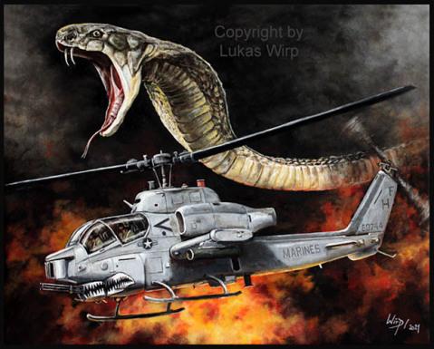 US Mariens hellicopter Cobra gulf war
